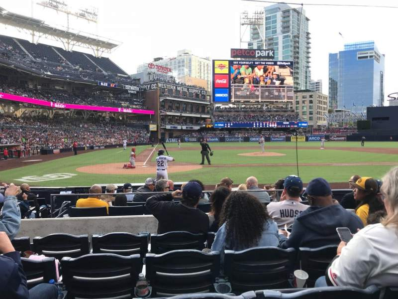 Seating view for PETCO Park Section 105 Row 11 Seat 4