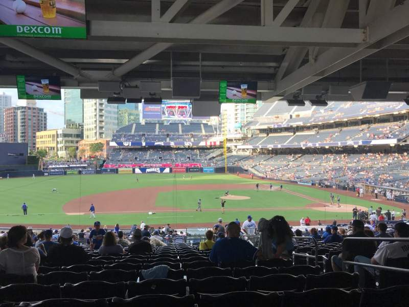 Seating view for PETCO Park Section 110 Row 42 Seat 4