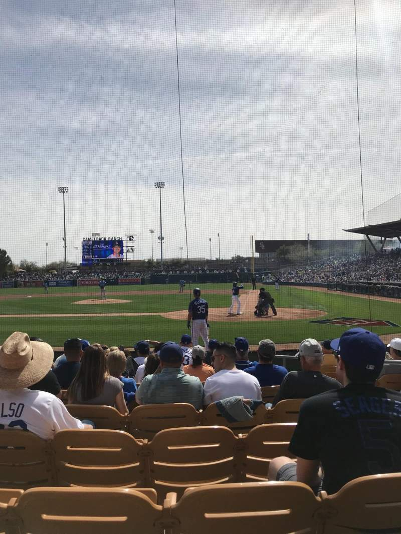 Seating view for Camelback Ranch Section 8 Row 9 Seat 4