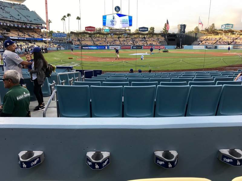 Seating view for Dodger Stadium Section 6FD Row B Seat 3
