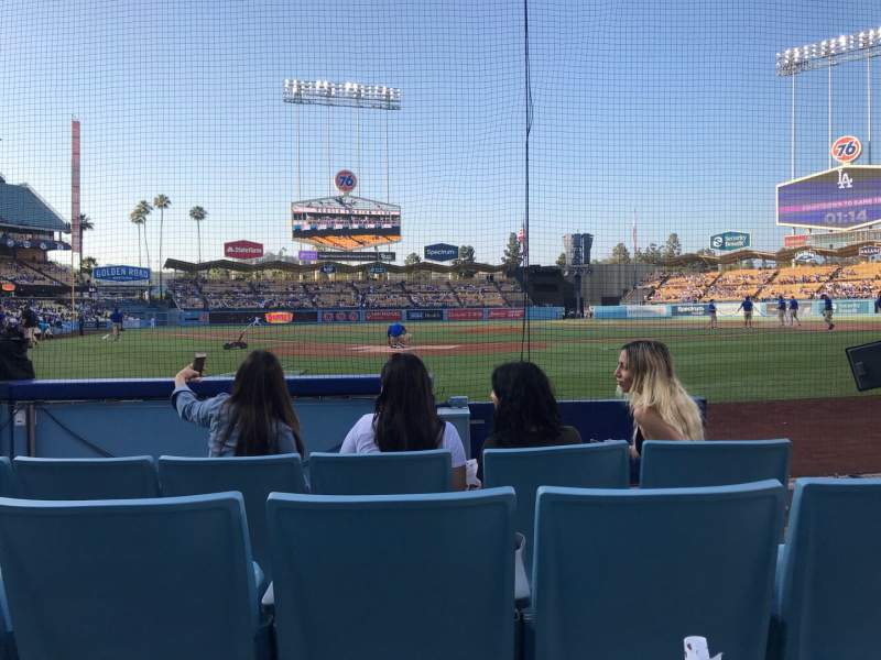 Seating view for Dodger Stadium Section 1DH Row EE Seat 16