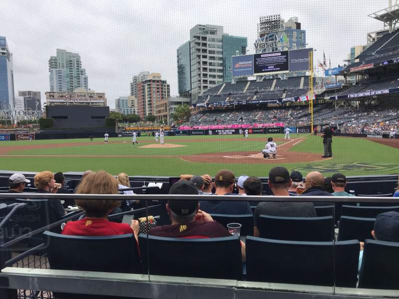 Seating view for PETCO Park Section 104 Row 8 Seat 6