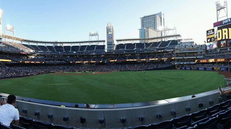 Seating view for PETCO Park Section 135 Row 4 Seat 13