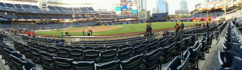 Seating view for PETCO Park Section 113 Row 8 Seat 11