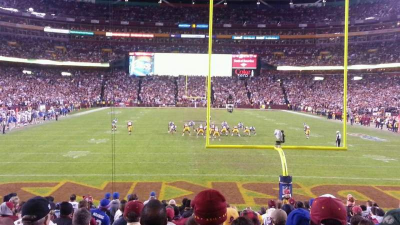 Seating view for FedEx Field Section 111 Row 14 Seat 19