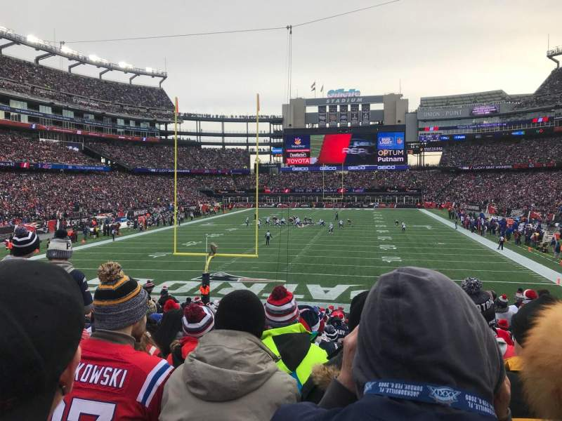 Seating view for Gillette Stadium Section 142 Row 24 Seat 11