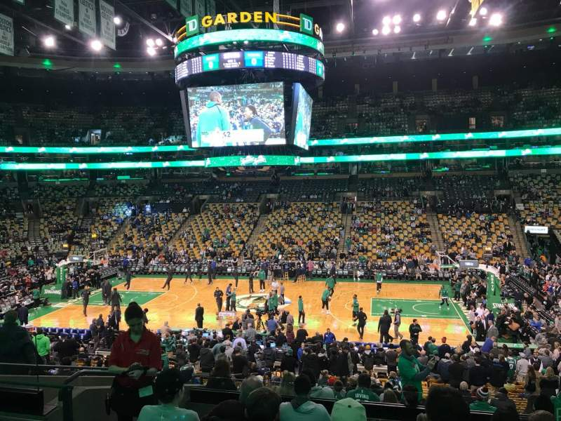 Beau Seating View For TD Garden Section Club 109 Row D Seat 12