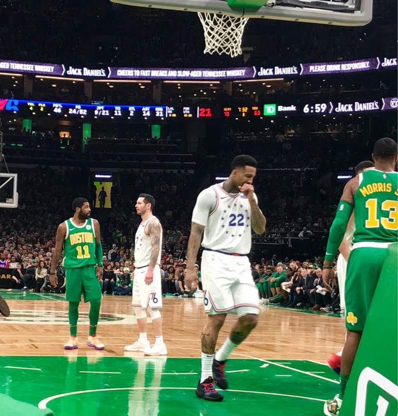 Seating view for TD Garden Section Loge 7 Row A Seat 4