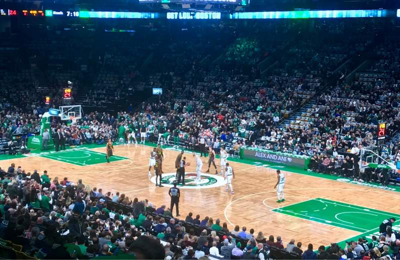 Seating view for TD Garden Section Loge 10 Row 26 Seat 11