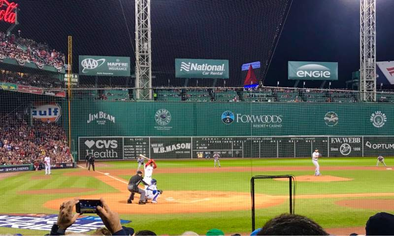 Seating view for Fenway Park Section Field Box 39 Row LL Seat 6