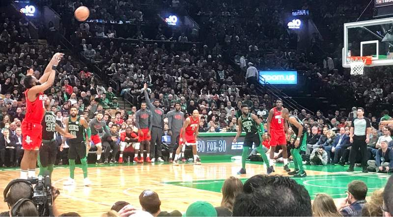Seating view for TD Garden Section Loge 12 Row 4 Seat 14
