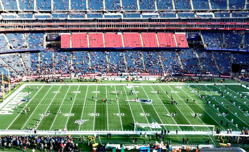 Seating view for Gillette Stadium Section 333 Row 4 Seat 1