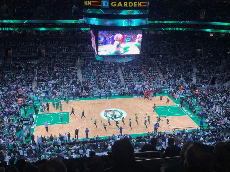 Seating view for TD Garden Section Bal 317 Row 11 Seat 6