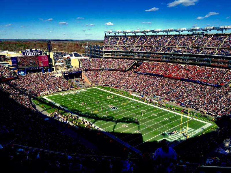 Seating view for Gillette Stadium Section 324 Row 19 Seat 1
