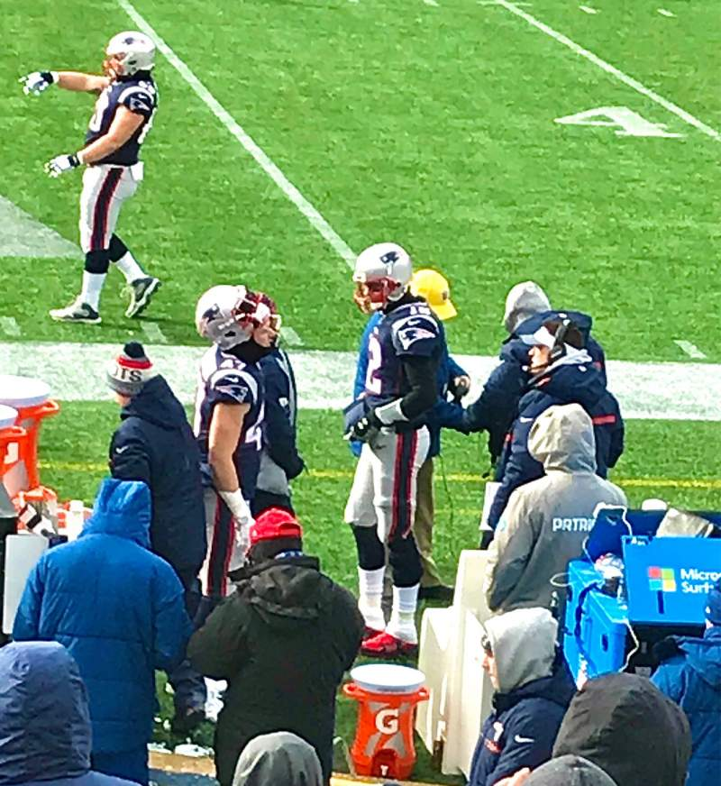 Seating view for Gillette Stadium Section 110 Row 11 Seat 1