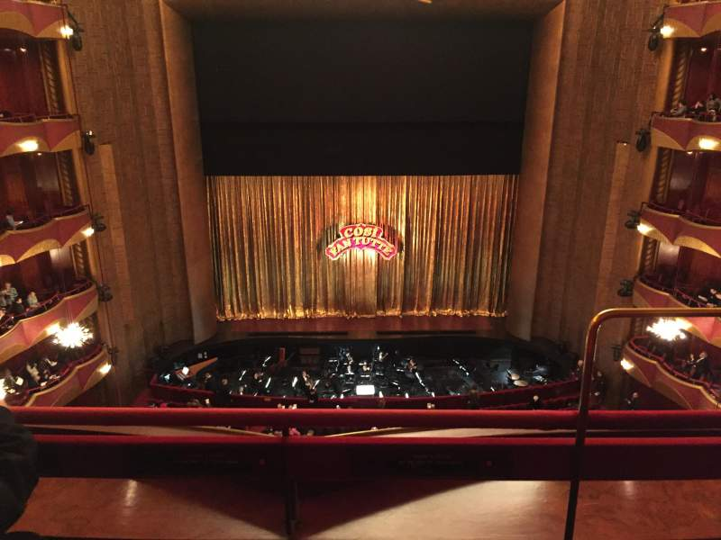 Seating view for Metropolitan Opera House - Lincoln Center Section Balcony Center Row B Seat 101