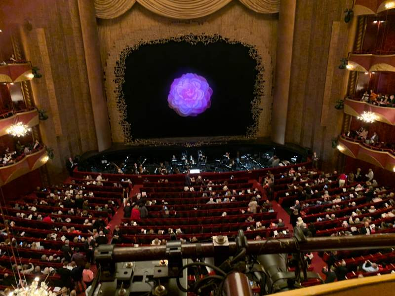 Seating view for Metropolitan Opera House - Lincoln Center Section Dress Circle Row A Seat 101
