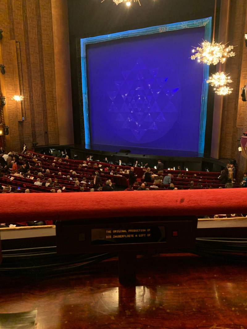 Seating view for Metropolitan Opera House - Lincoln Center Section Parterre 16 Row 1 Seat 2