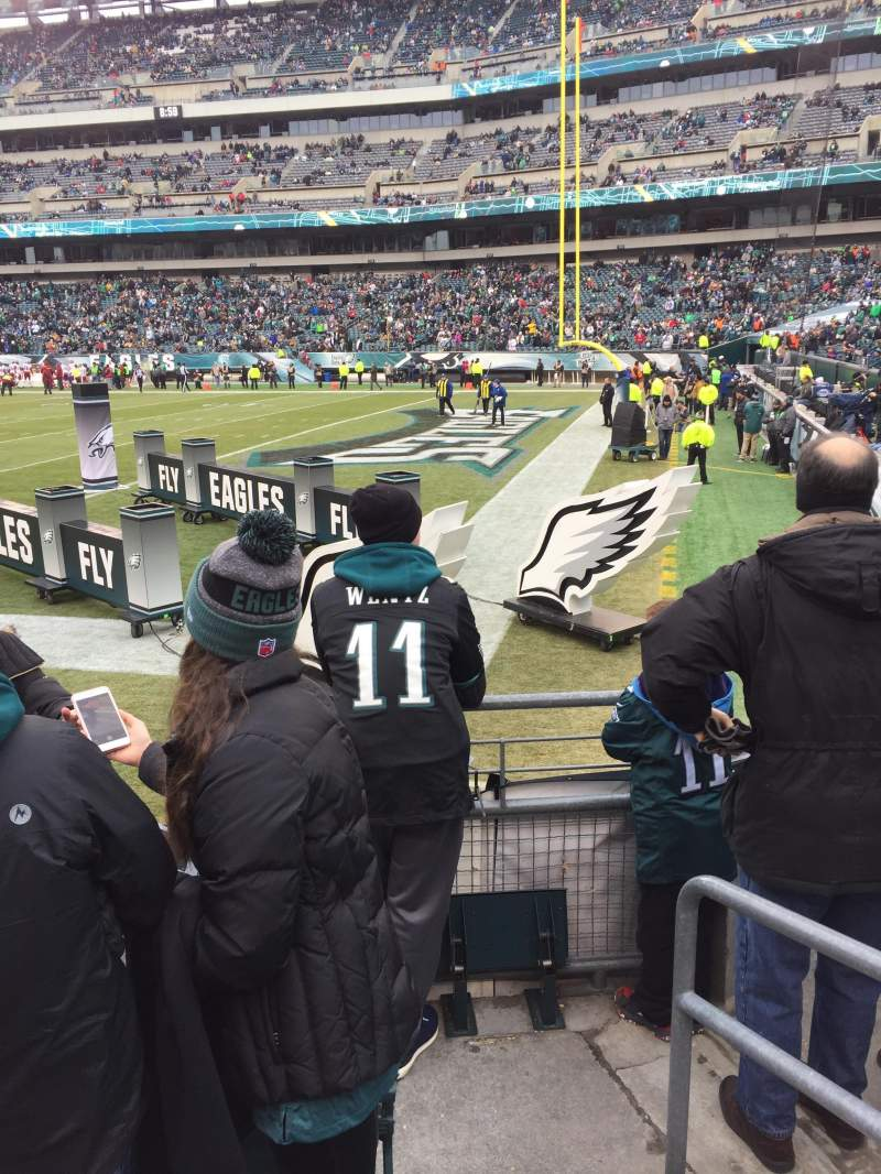 Seating view for Lincoln Financial Field Section 104 Row 4 Seat 2