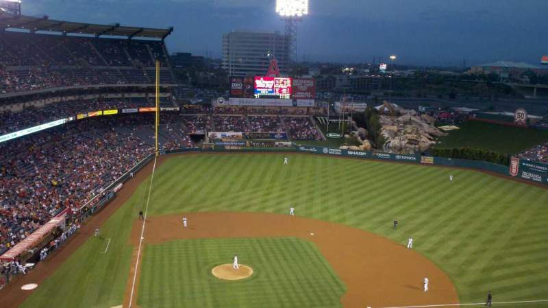 Seating view for Angel Stadium Section V525 Row E Seat 17