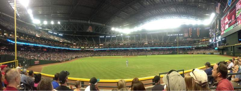 Seating view for Chase Field Section 102 Row 4 Seat 6