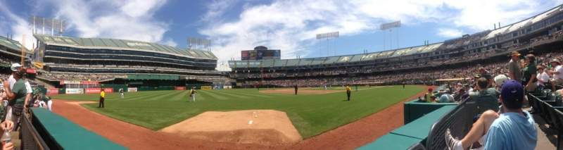 Seating view for Oakland Alameda Coliseum Section 126