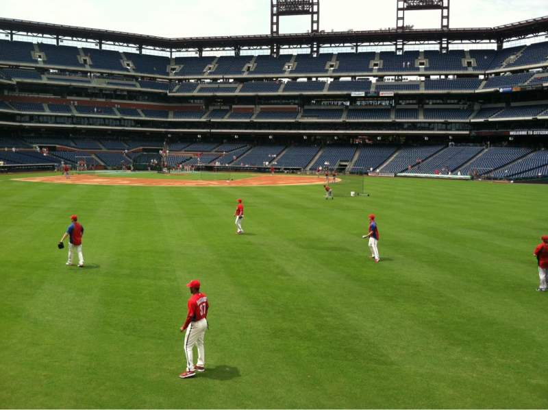 Citizens Bank Park, section: 102, row: 1, seat: 2