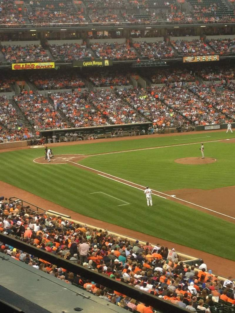 Seating view for Oriole Park at Camden Yards Section 210 Row 1 Seat 12