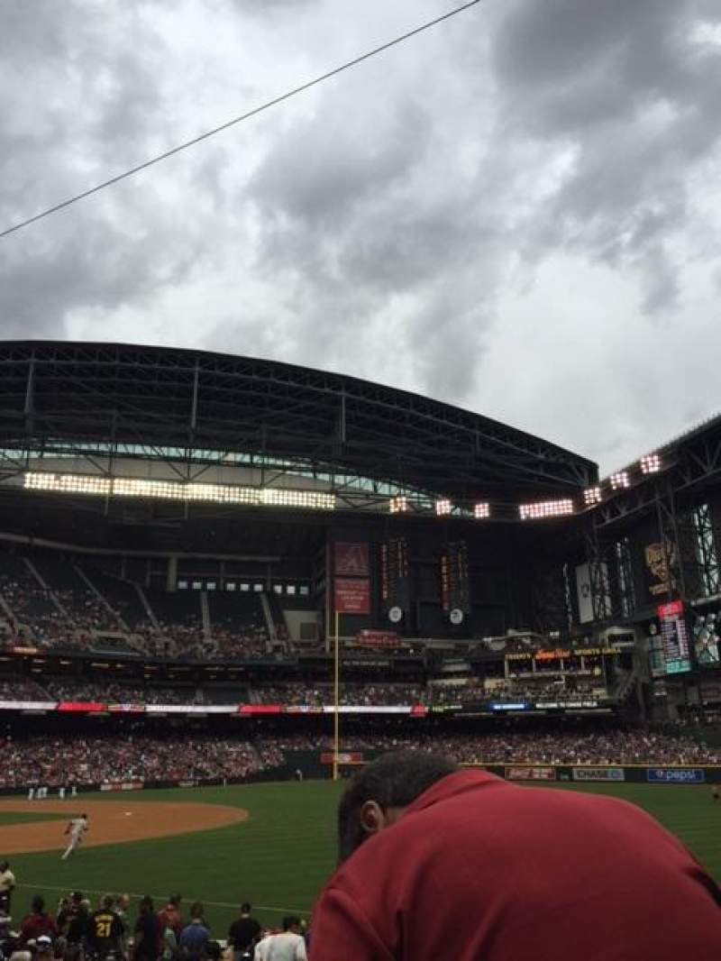 Seating view for Chase Field Section 111 Row 19 Seat 16