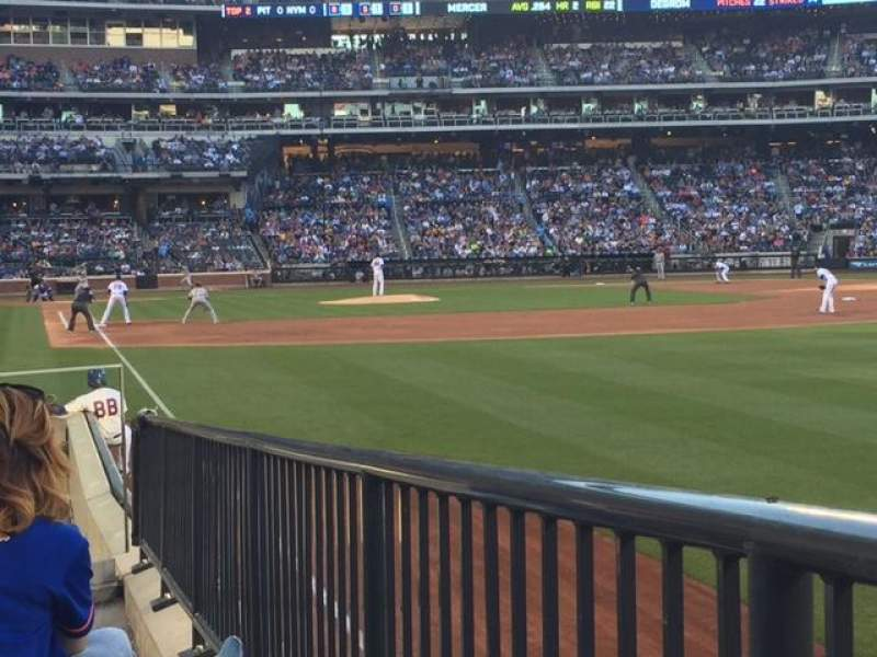 Seating view for Citi Field Section 106 Row 7 Seat 9
