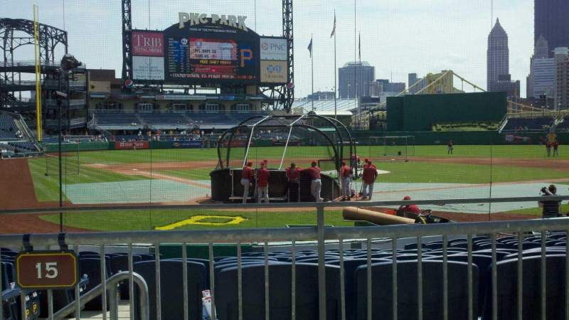Seating view for PNC Park Section 115 Row A Seat 5