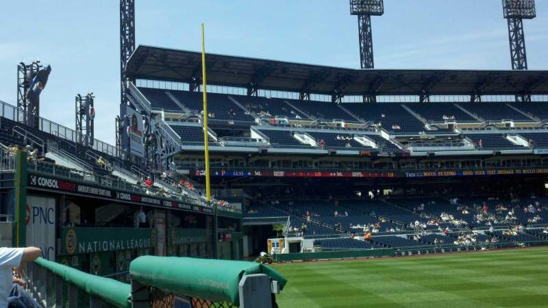 PNC Park, section: 139, row: A, seat: 17