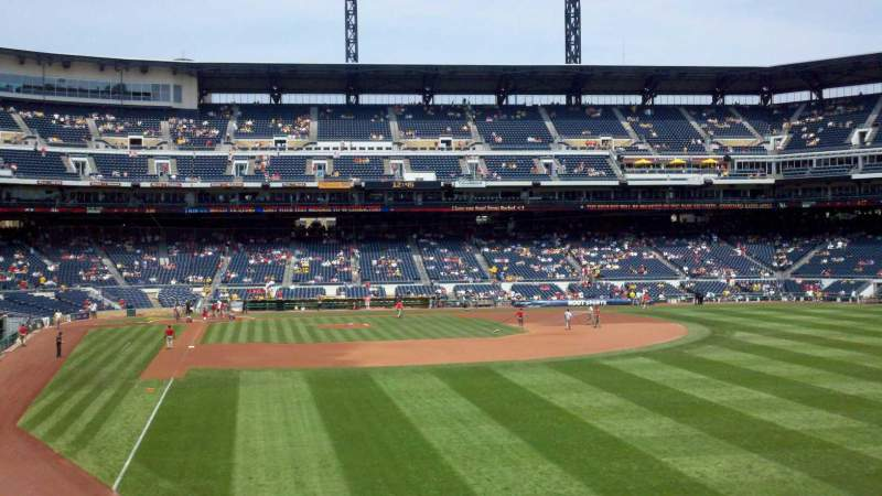 Seating view for PNC Park Section 145 Row A Seat 16