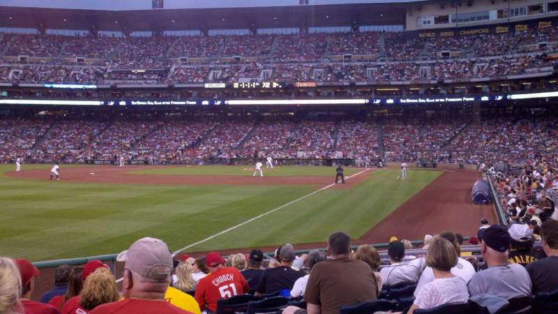 Seating view for PNC Park Section 131 Row A Seat 12