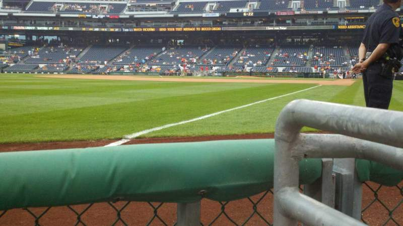 Seating view for PNC Park Section 31 Row A Seat 1