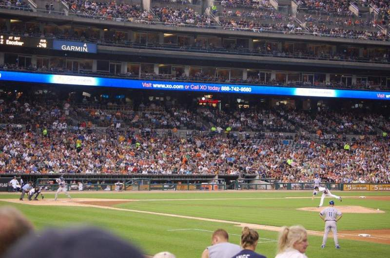 Seating view for Comerica Park Section 117 Row 22 Seat 19
