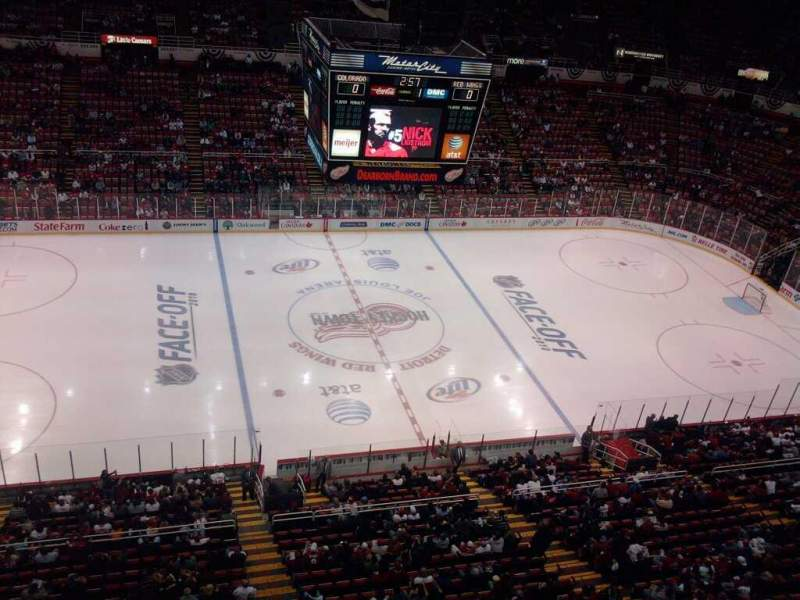 Seating view for Joe Louis Arena Section suite