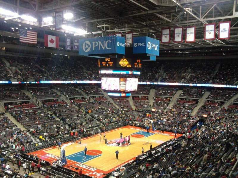 Seating view for The Palace of Auburn Hills Section 220
