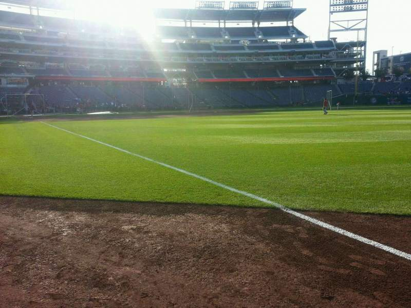 Seating view for Nationals Park Section 135 Row a Seat 7