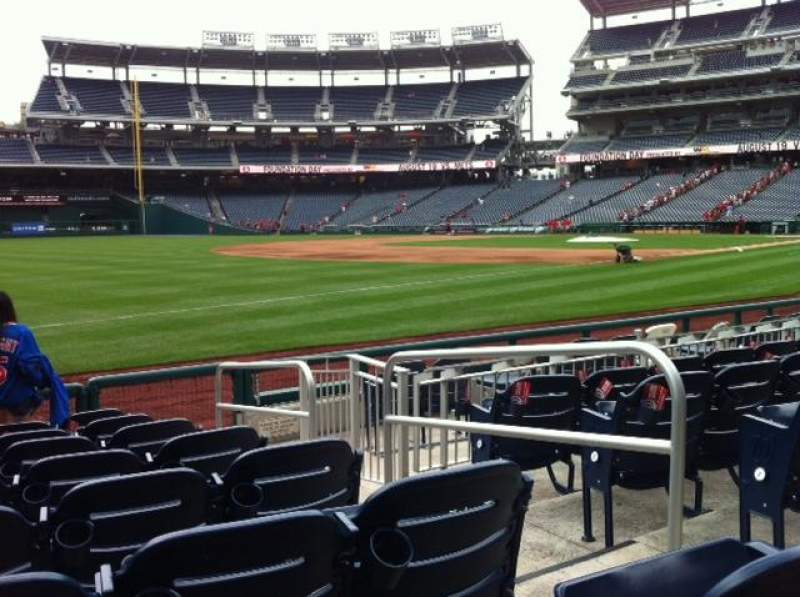 Seating view for Nationals Park Section 111 Row H Seat 1