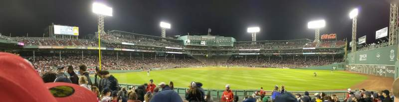 Seating view for Fenway Park Section Bleacher 40 Row 11 Seat 3