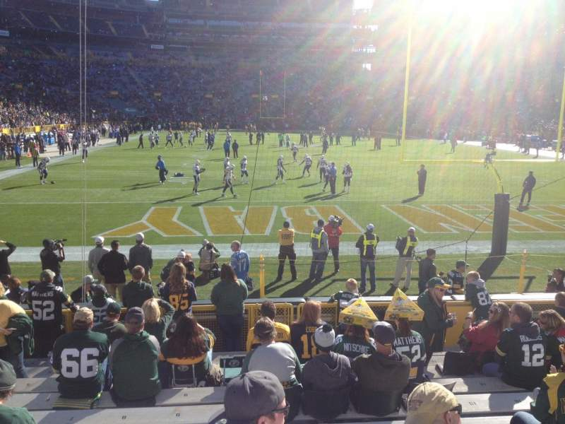 Seating view for Lambeau Field Section 101 Row 12 Seat 10