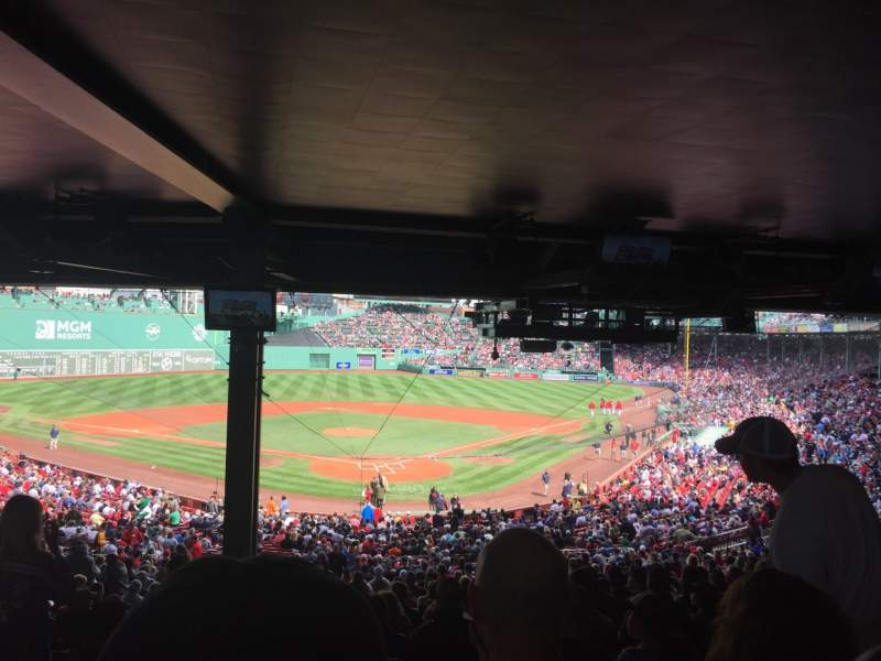 Seating view for Fenway Park Section Grandstand 21 Row HH Seat 20