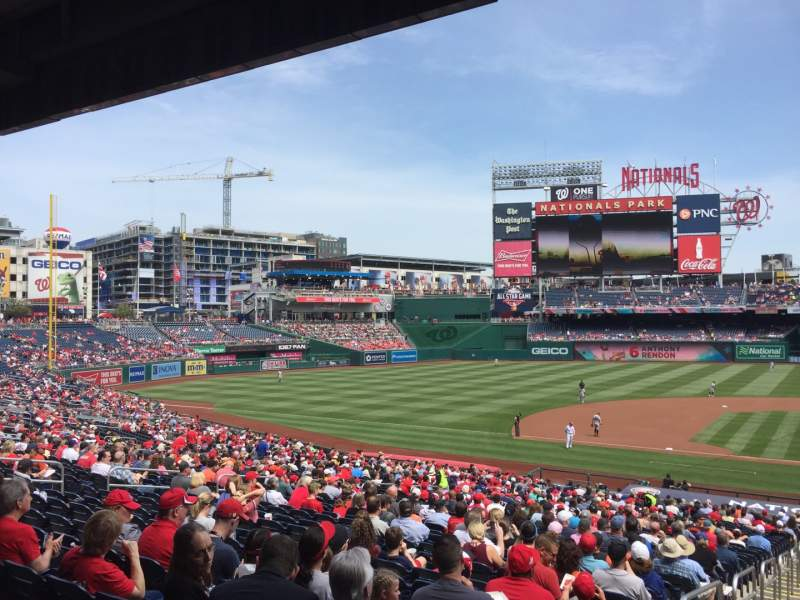 Seating view for Nationals Park Section 117 Row WW Seat 5-6