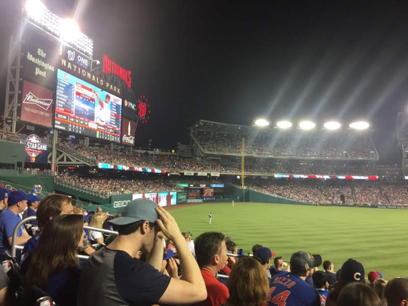 Seating view for Nationals Park Section 103 Row U Seat 6-8