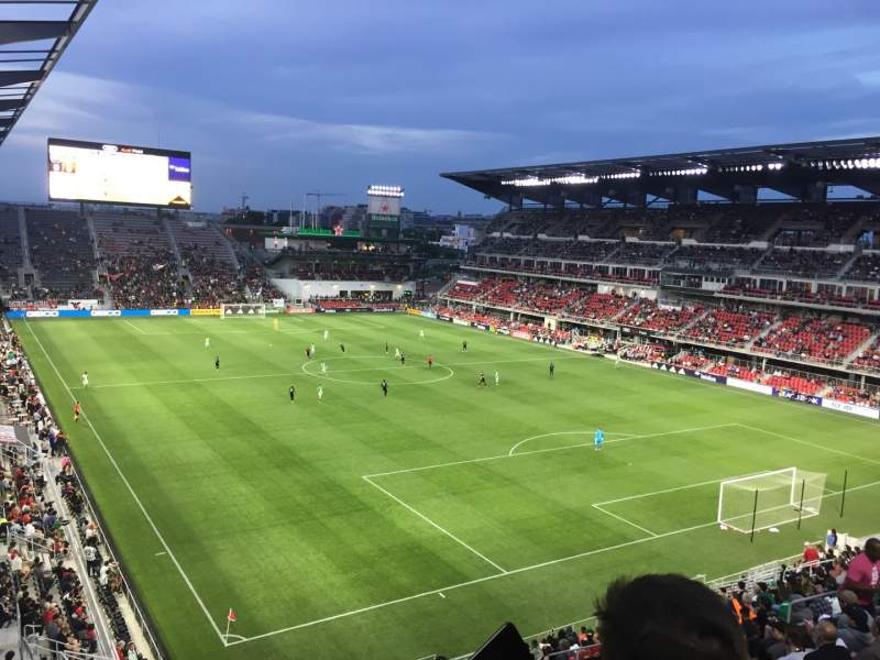 Seating view for Audi Field Section 120 Row 26 Seat 17-18