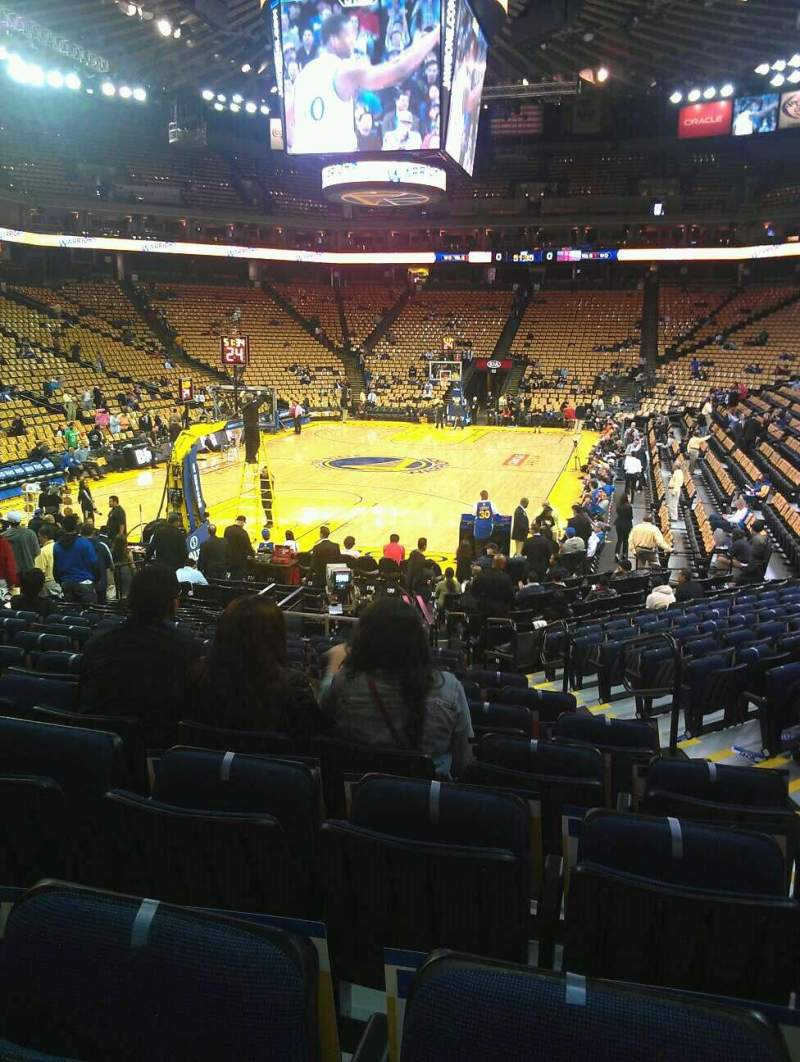 Seating view for Oracle Arena Section 121 Row 14 Seat 3
