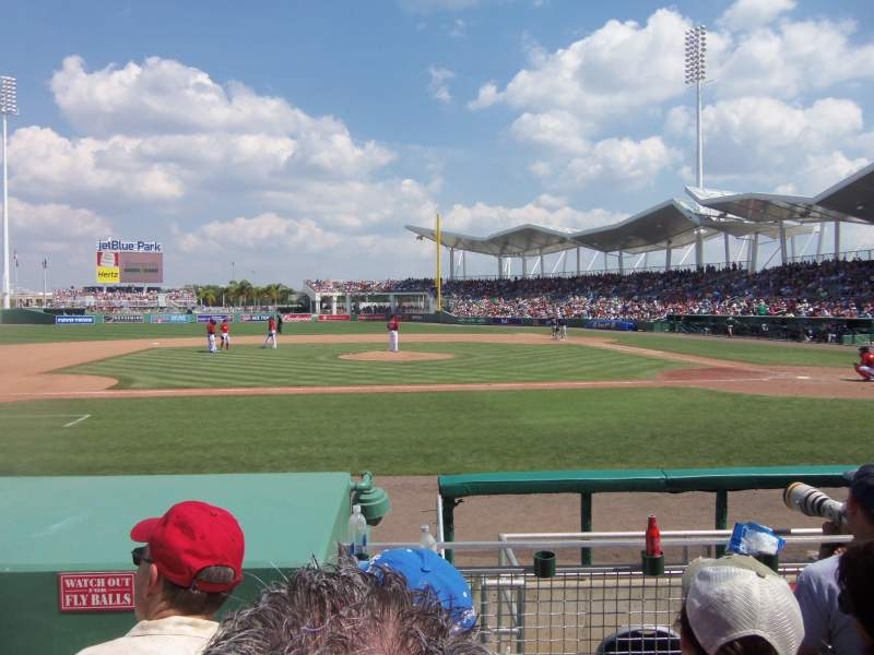 Seating view for JetBlue Park Section 106 Row 8 Seat Aisle 24-2