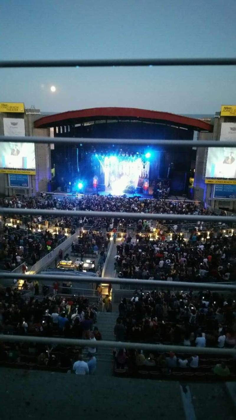 Jones Beach Theater, section: 21, row: A, seat: 15