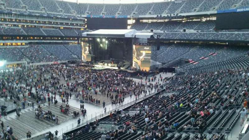 Seating view for MetLife Stadium Section 217 Row 1 Seat 8